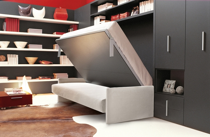stunning-room-with-folding-murphy-bed-and-modern-wall-shelves-and-cabinet