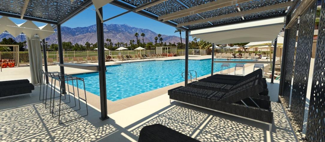 Beside pool in Nevada