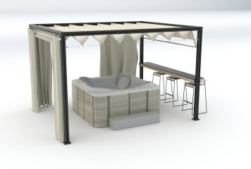 modulounge with hottub
